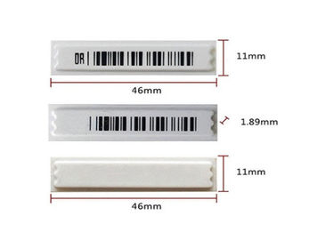 Supermarket 58KHZ Barcode Keamanan AM Label Alarm / Label Anti Pencurian Rfid Eas