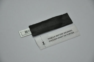Cina Hitam AM Label Barcode Labeling, Dua sisi Kraft Liner 0.12mm tebal pabrik